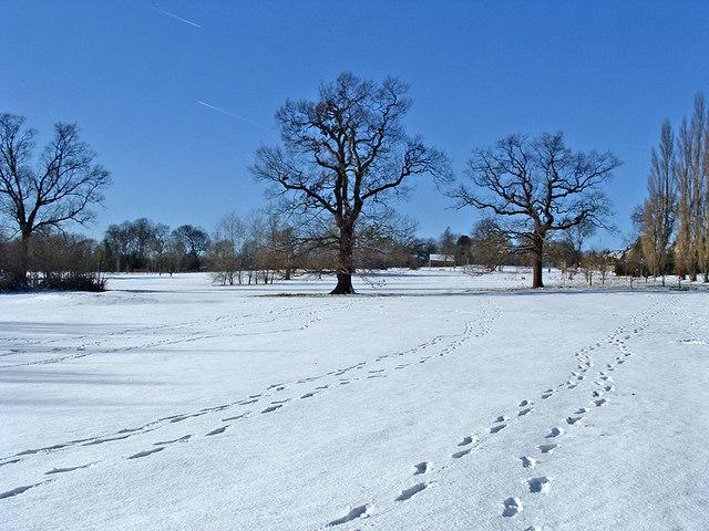 Oakwood Park in Winter, London, N14