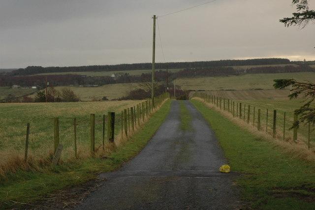 Farm entrance near Bog of Cullicudden