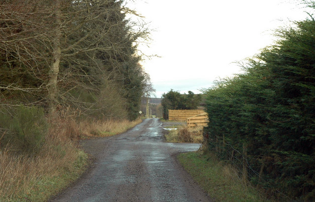 Unclassified road past Knockbain