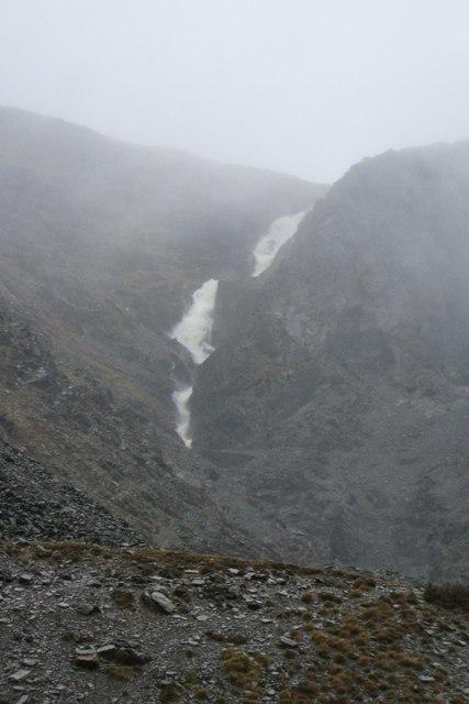 Nant Y Gwaith waterfall