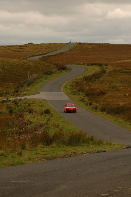 Rally car on the Otterburn Ranges