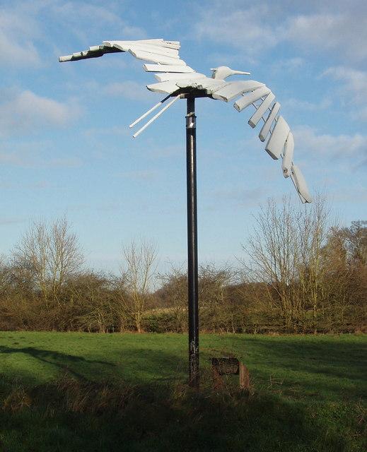 Heron sculpture, Denham Country Park