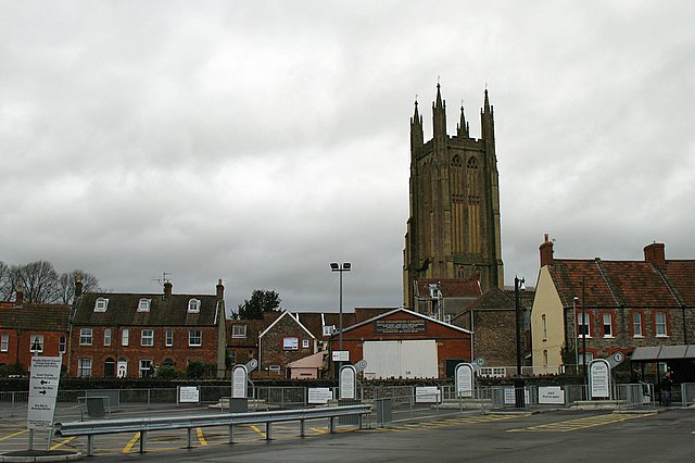 The Bus Station, Market Street & St. Cuthbert's Church