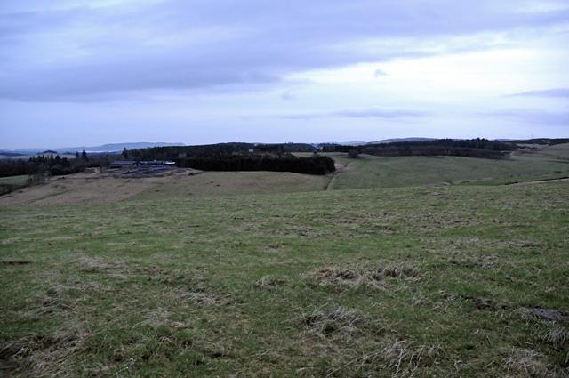 Farmland on Fordel Hill at Dusk