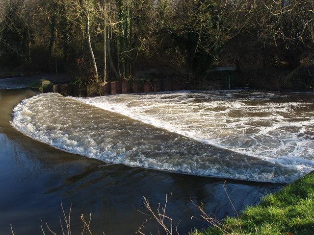 Weir on the Colne at Denham