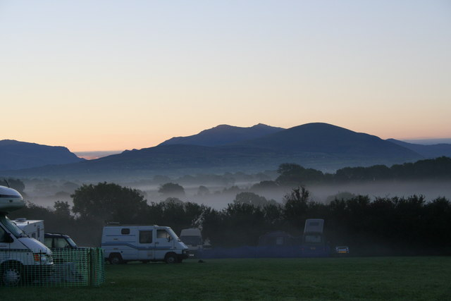 Dawn View towards Snowdon from Gaerwen farm