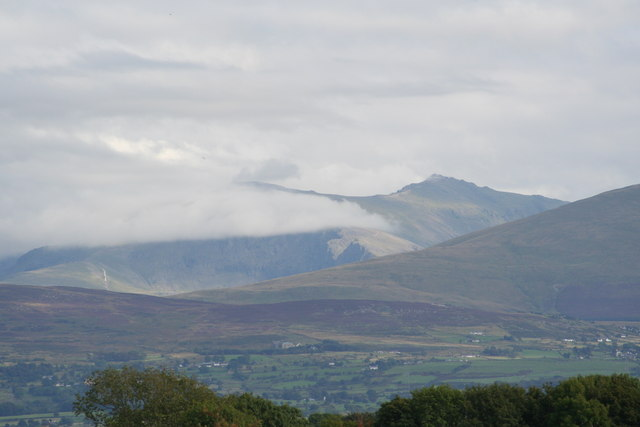 Snowdon covered in cloud