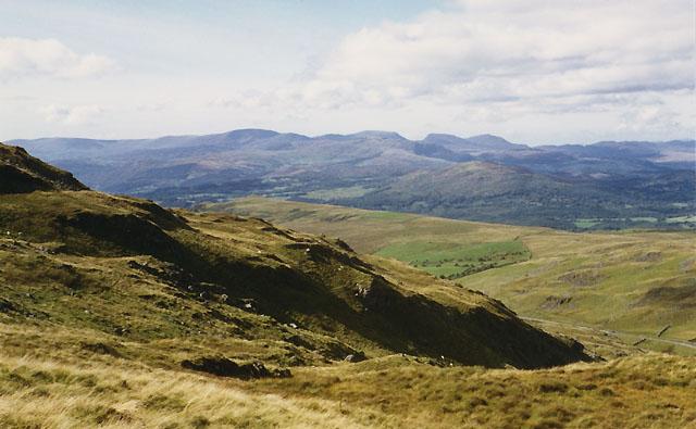 View northwest from Craig y Bwlch
