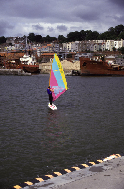 Wind surfing in the Floating Harbour