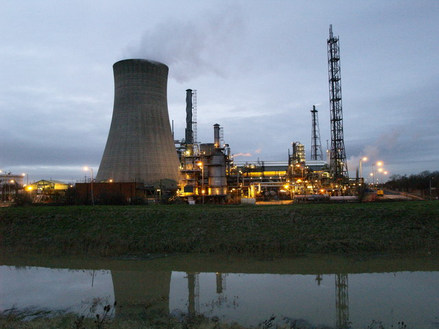 Chemical Works at Dusk