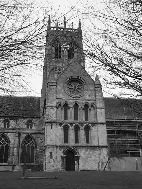 St. Augustine's Church from the south (B&W)
