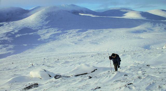 On the slopes of Conachcraig