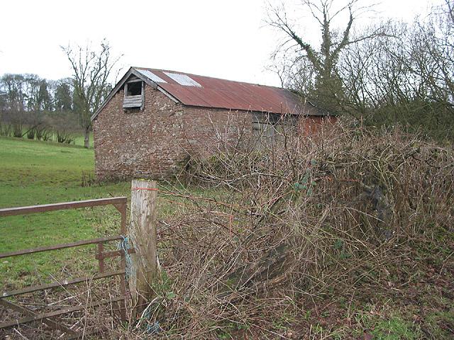 Red sandstone barn