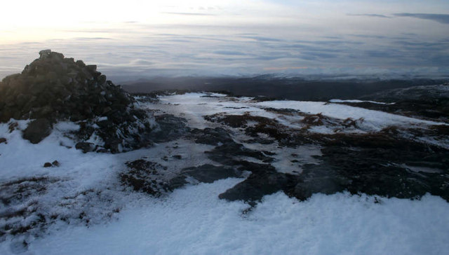 Summit cairn of Meall Fuar-mhonaidh