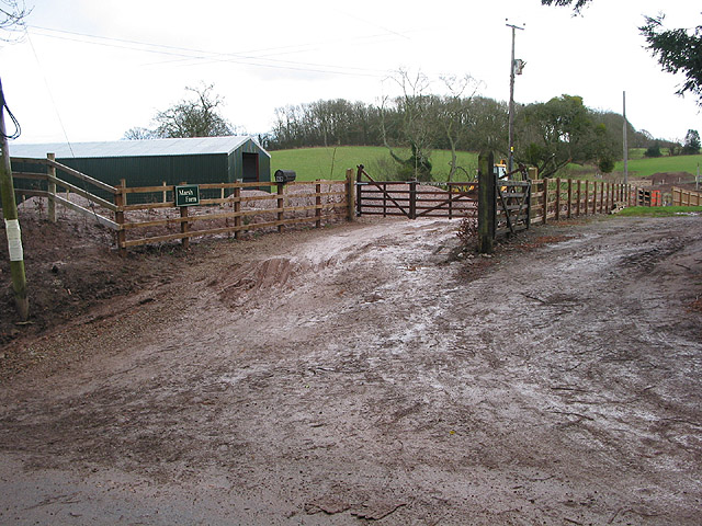 Muddy farm entrance
