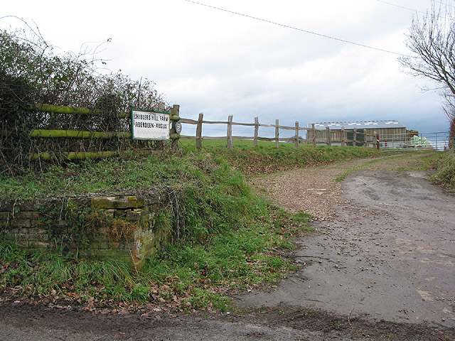 Entrance to Chiblers Hill Farm