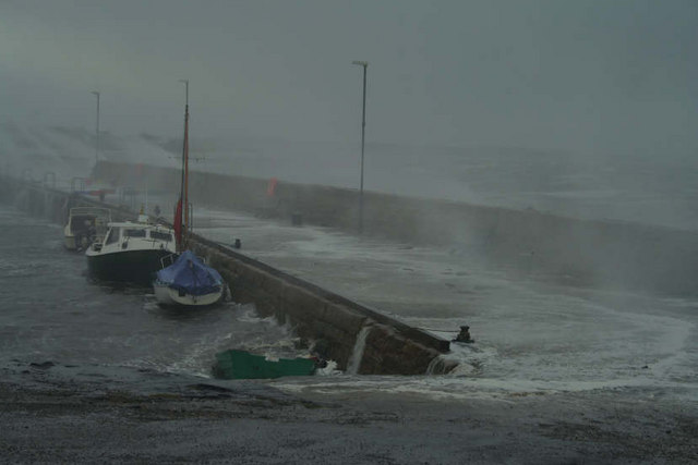 Stormy Day at Portmahomack Harbour