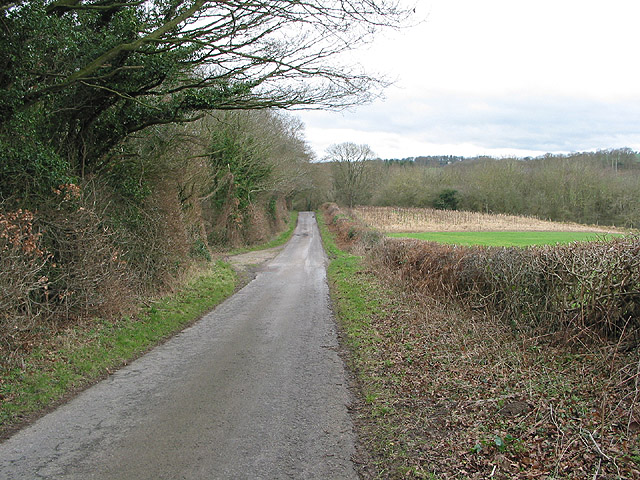 Downhill towards Upton Bishop