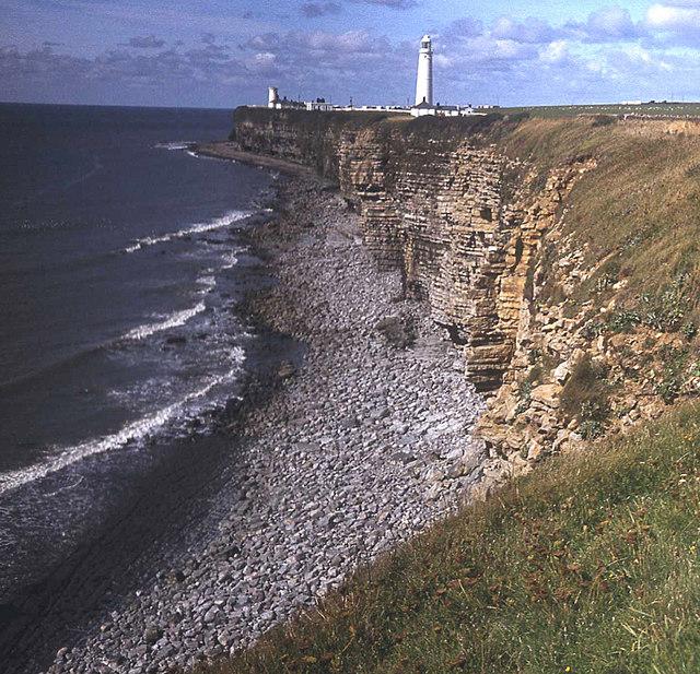 Crumbling cliffs at Nash Point