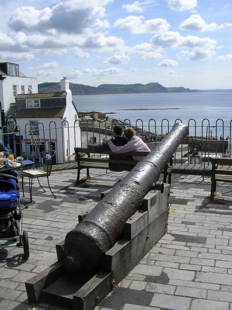 Cannon on seafront terrace
