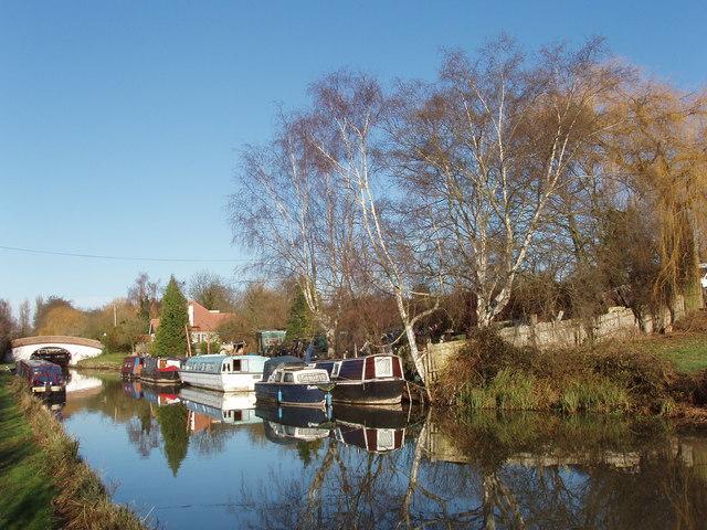 Boats below Black Jack's Lock, Grand Union Canal