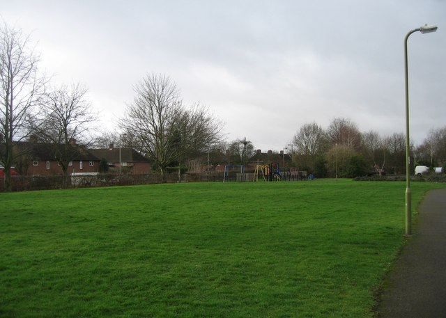 Open ground by Gower Close.