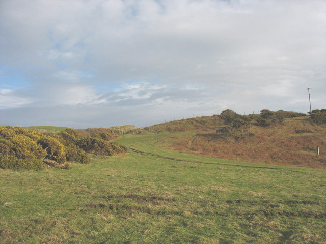 Path and track leading from the Geirch valley towards Porth Dinllaen Farm