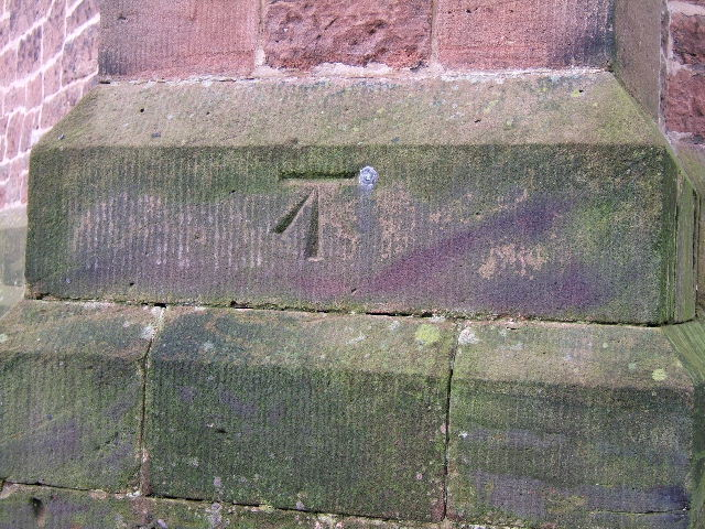 Bench Mark on The Holy Ascension Church, Upton-by-Chester