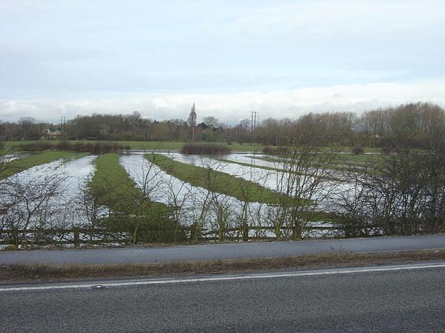 Ridge and furrow near Egginton