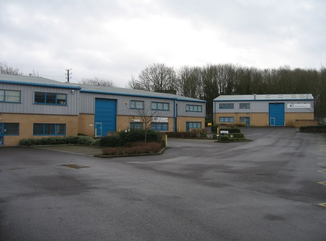 Industrial units at the end of Rankine Road