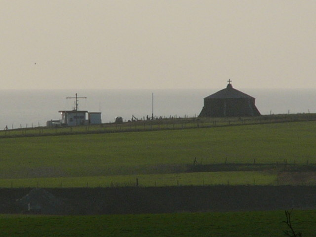 St Andhelms Chapel and the Coastguard station