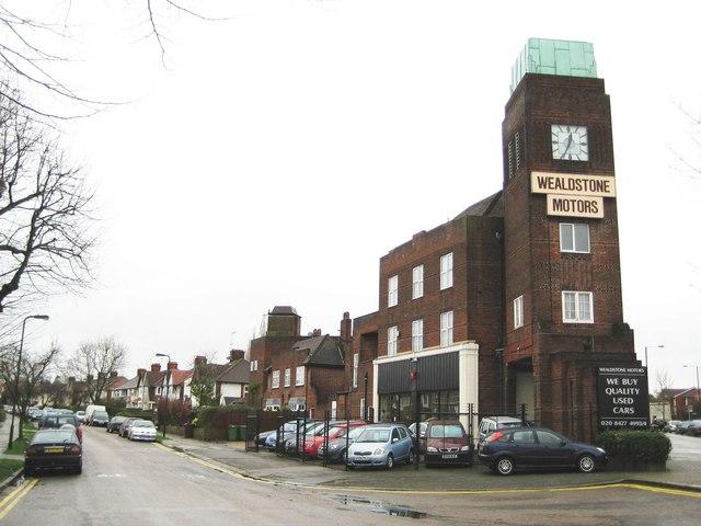 North Harrow Wealdstone Motors Clock 169 Nigel Cox Cc By