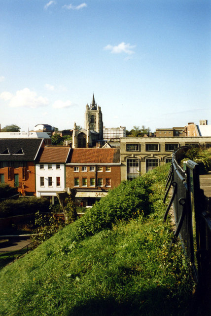 St Peter Mancroft - View from Castle Mound