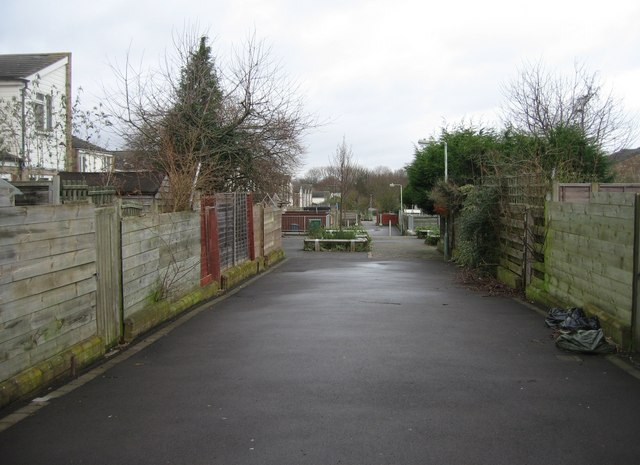 Behind the houses - Silvester Close