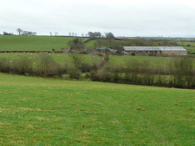 Farm buildings on Wester Bullaford Moor