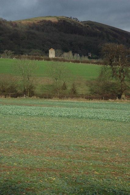 Farmland to the east of Underhills Farm