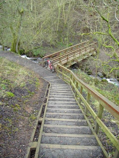 Steps to the bridge