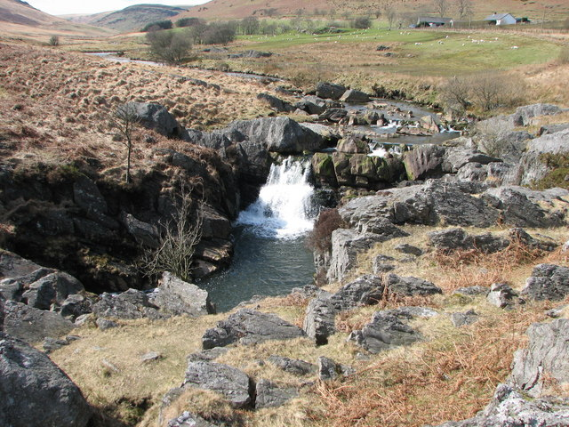 Waterfall on Afon Claerwen