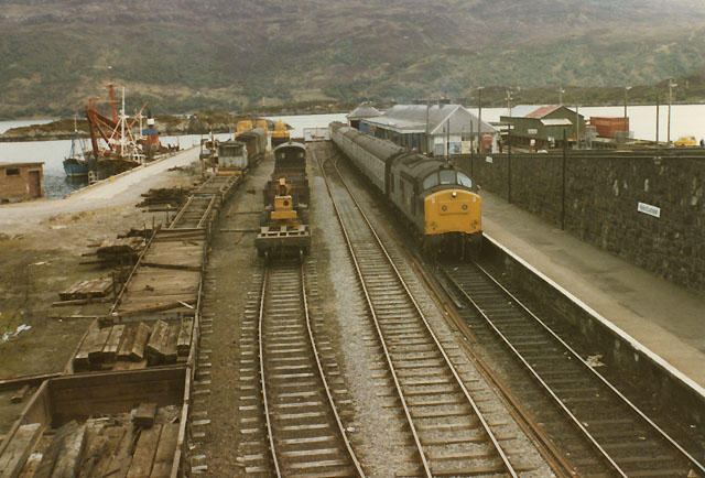 Kyle of Lochalsh station, east side, 1984