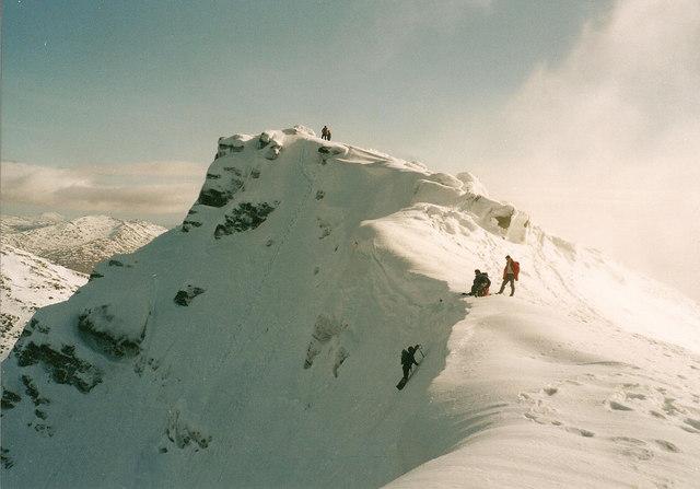 Ben Lui - Summit Ridge looking South East