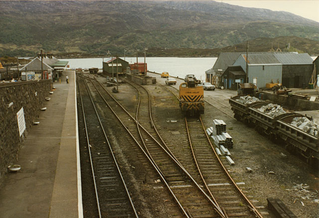 Kyle of Lochalsh station, west side, 1984