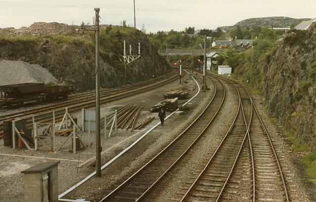 Kyle of Lochalsh station, north side, 1984