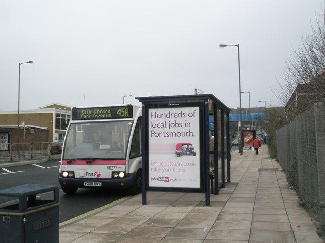 Bus stops at Cosham