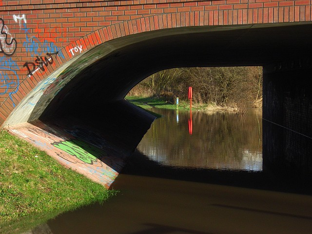 Part of a bridge over the River Kennet, Reading
