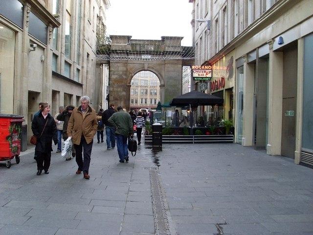 Walking into Royal Exchange Square