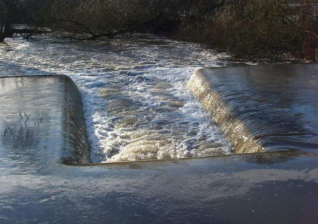 Weir from canal to River Colne, near Harefield