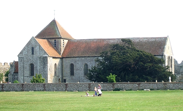 St. Mary's Portchester from the north