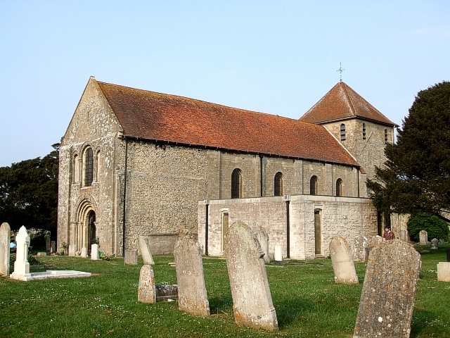 St. Mary's Portchester from its churchyard