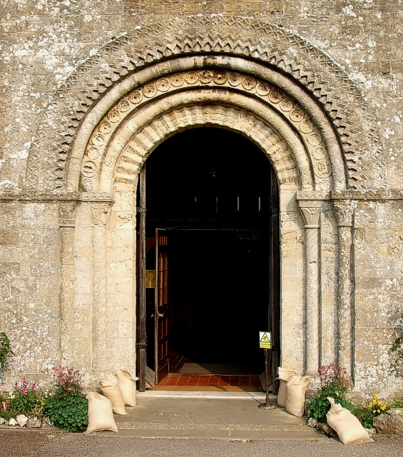 Romanesque West Door, St. Mary's, Portchester