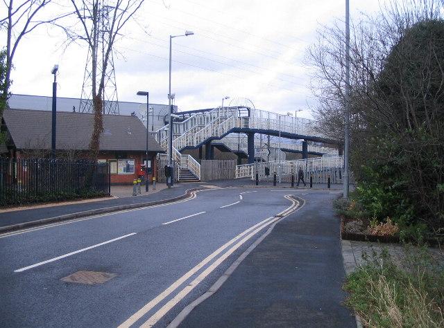 Canley Halt and footbridge